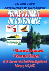 People's Summit On Governance – February 11-12, 2020 – St. Theresa Point