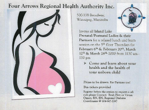 Invitation To Island Lake Prenatal/Postnatal Ladies & Their Partners for a relaxed lunch and learn session