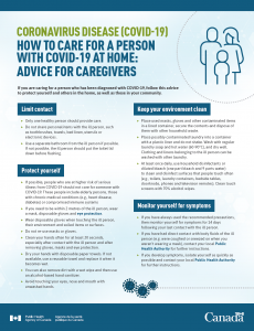 Read more about the article HOW TO CARE FOR A PERSON WITH COVID-19 AT HOME: ADVICE FOR CAREGIVERS