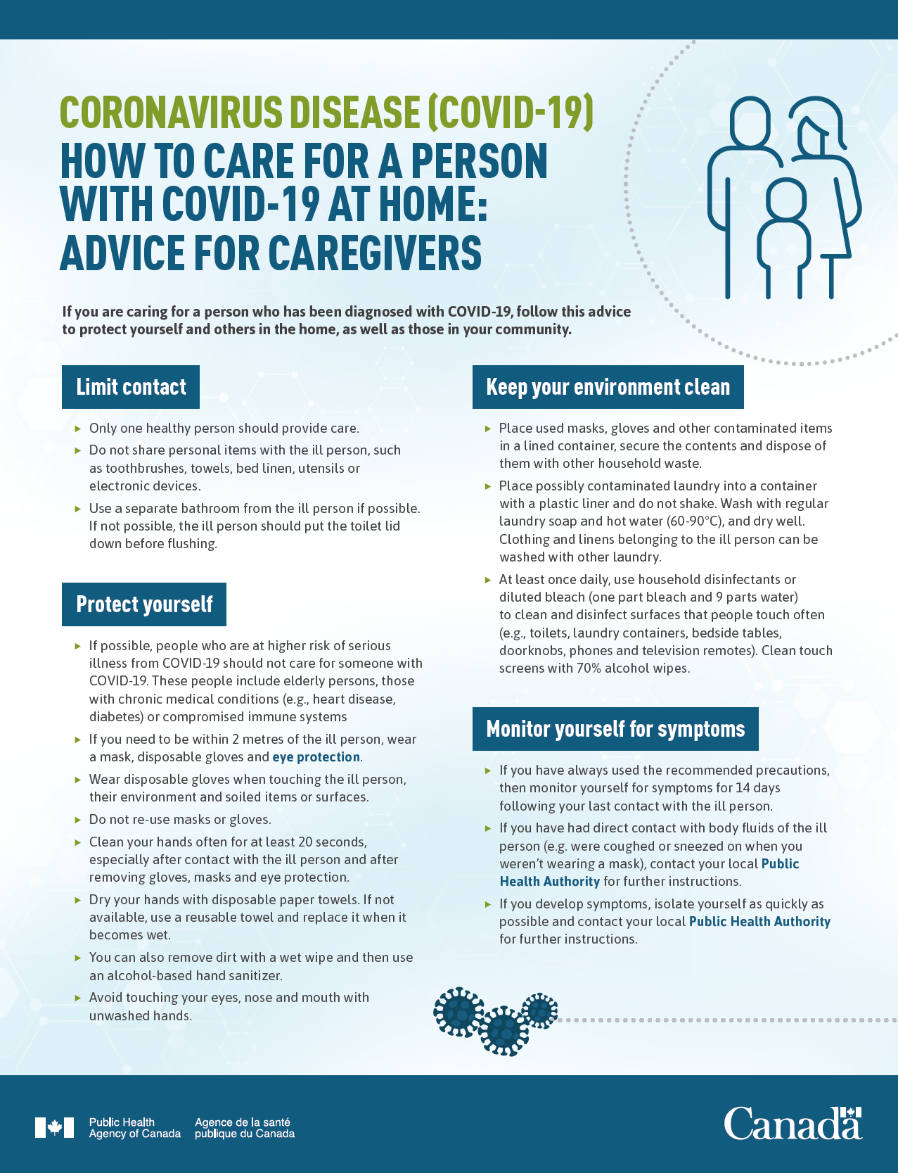 HOW TO CARE FOR A PERSON WITH COVID-19 AT HOME: ADVICE FOR CAREGIVERS