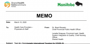 Subject: Test ALL Symptomatic International Travelers for COVID-19