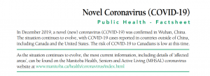 Novel Coronavirus (COVID-19) Public Health – Factsheet