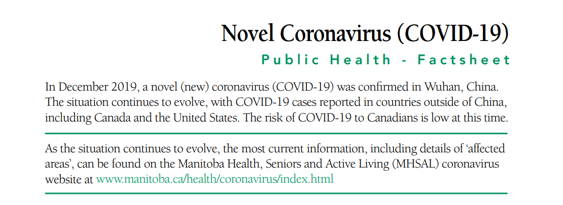 You are currently viewing Novel Coronavirus (COVID-19) Public Health – Factsheet