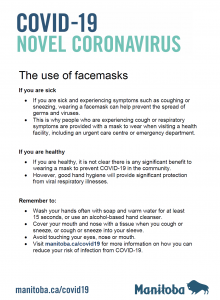COVID-19 – Use Of Face Masks