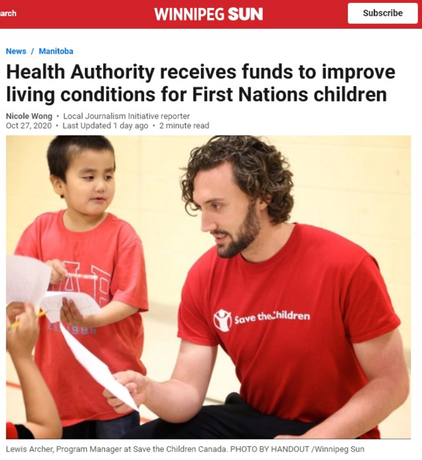 Health Authority receives funds to improve living conditions for First Nations children