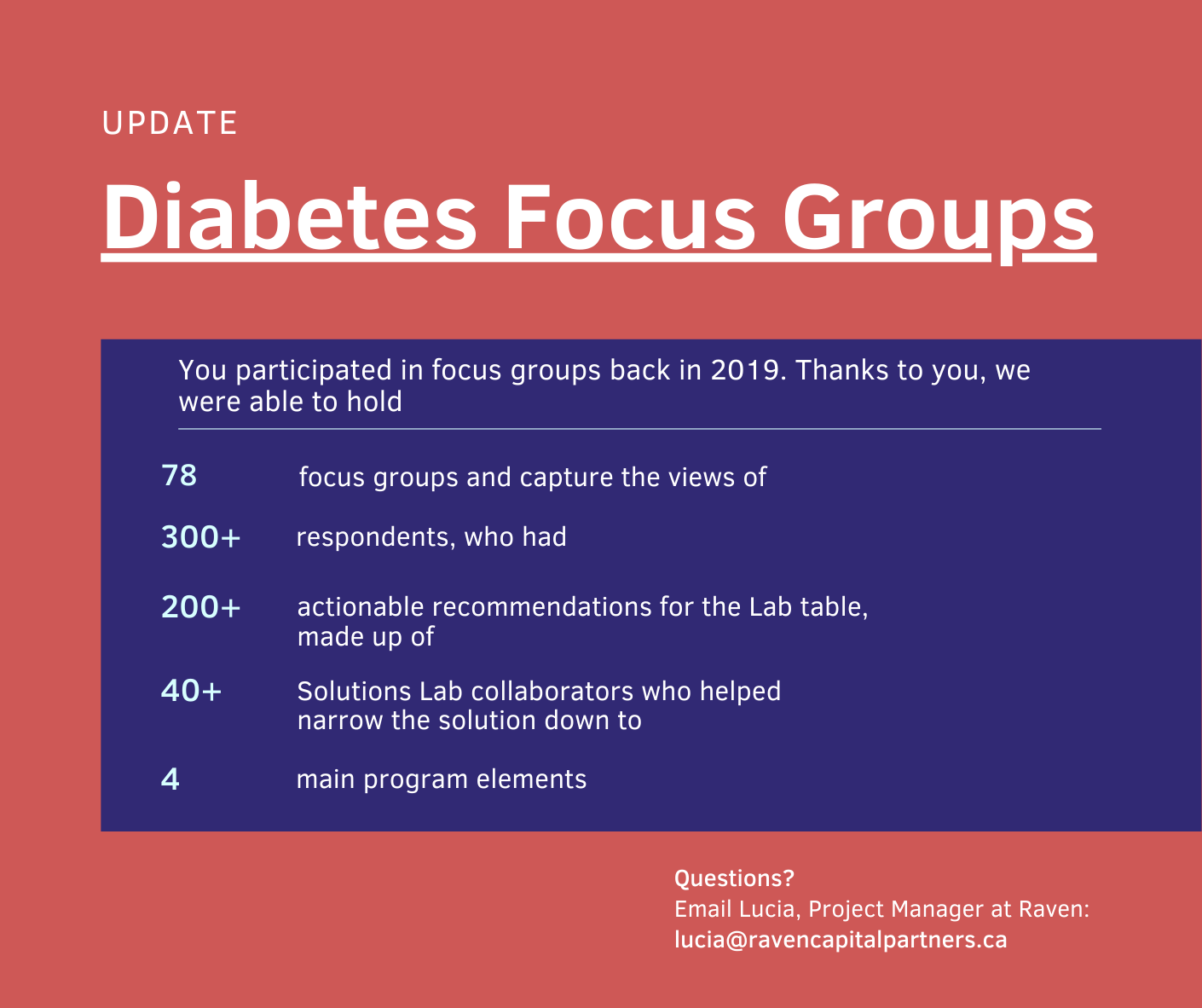 Indigenous Solutions to Diabetes Update – Island Lakes